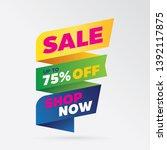vector sale banner template... | Shutterstock .eps vector #1392117875