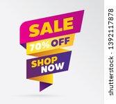 vector sale banner template... | Shutterstock .eps vector #1392117878