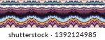 ikat geometric folklore... | Shutterstock .eps vector #1392124985