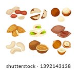Set Of Different Kind Of Nuts...
