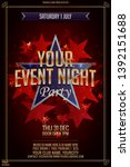 star party creative vector...   Shutterstock .eps vector #1392151688