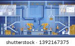 smart factory interior with... | Shutterstock .eps vector #1392167375