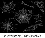 collection of cobweb  isolated... | Shutterstock . vector #1392192875