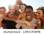 portrait of smiling young...   Shutterstock . vector #1392193898