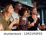group of male and female... | Shutterstock . vector #1392193955