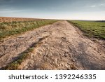 a long and stony path to the... | Shutterstock . vector #1392246335