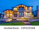 luxury house at night in... | Shutterstock . vector #139225268