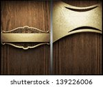 vector wood and gold background ...   Shutterstock .eps vector #139226006