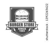 vector logo  emblem  badge logo ... | Shutterstock .eps vector #1392265622