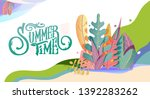 summer decorative template for... | Shutterstock .eps vector #1392283262