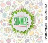 summer decorative template for... | Shutterstock .eps vector #1392283265