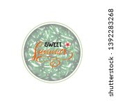 summer decorative template for... | Shutterstock .eps vector #1392283268