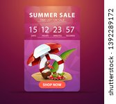 summer sale  web banner with... | Shutterstock .eps vector #1392289172