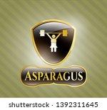 gold emblem with weightlifter...   Shutterstock .eps vector #1392311645