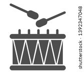 drum and sticks solid icon.... | Shutterstock .eps vector #1392347048