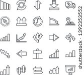 thin line icon set   signpost... | Shutterstock .eps vector #1392353552