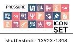 pressure icon set. 19 filled...   Shutterstock .eps vector #1392371348