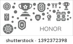 honor icon set. 11 filled honor ... | Shutterstock .eps vector #1392372398