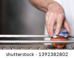 operator checking quality at... | Shutterstock . vector #1392382802