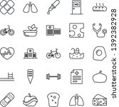 thin line icon set   medical... | Shutterstock .eps vector #1392382928