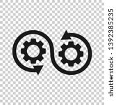 development icon in transparent ... | Shutterstock .eps vector #1392385235
