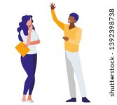 business couple interracial... | Shutterstock .eps vector #1392398738