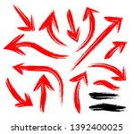 hand drawn arrows. scribble and ... | Shutterstock .eps vector #1392400025