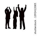 children raised hands  body...   Shutterstock .eps vector #1392412085