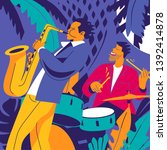 Jazz Musicians. Drummer And...