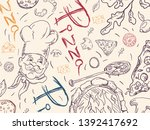 contour cover background... | Shutterstock .eps vector #1392417692