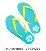 a pair of colorful flipflops...   Shutterstock .eps vector #13924291