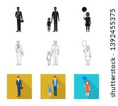 isolated object of character... | Shutterstock .eps vector #1392455375