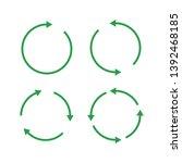 green reusable arrow icons  eco ... | Shutterstock .eps vector #1392468185