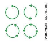 green reusable arrow icons  eco ... | Shutterstock .eps vector #1392468188