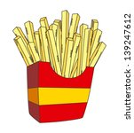 cartoon,fast food,food,french fries,french fries isolated,fries,icon,illustration,junk food,object,potato,salty