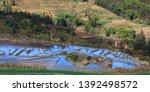 honghe yuanyang  samaba rice... | Shutterstock . vector #1392498572