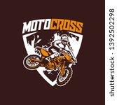 moto cross logo vector racing...   Shutterstock .eps vector #1392502298