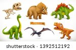 dinosaurs cartoon character.... | Shutterstock .eps vector #1392512192