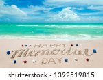 memorial day background on the... | Shutterstock . vector #1392519815