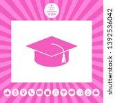 master cap for graduates ... | Shutterstock .eps vector #1392536042