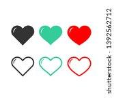 set of heart icons love symbol...   Shutterstock .eps vector #1392562712