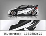 car decal wrap design vector.... | Shutterstock .eps vector #1392583622