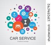 car service trendy ui bubble...   Shutterstock .eps vector #1392596792