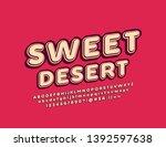 vector bright emblem sweet... | Shutterstock .eps vector #1392597638