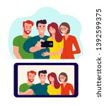 photo of a group of young... | Shutterstock .eps vector #1392599375
