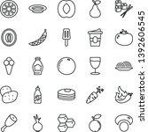 thin line vector icon set  ... | Shutterstock .eps vector #1392606545
