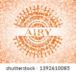 airy abstract emblem  orange... | Shutterstock .eps vector #1392610085
