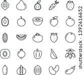 thin line vector icon set  ... | Shutterstock .eps vector #1392616652