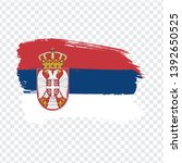 flag serbia from brush strokes. ...