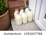 Small photo of Door step milk delivery, 6 bottles of milk, skimmed and semi skimmed